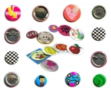 Tin Button bagdes